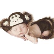 Zehui Baby Toddler Kids Costume Knit Crochet Beanie Flowers Animal Hat Cap Photo Prop O-Monkey