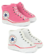 Converse Baby Girls Trainer Themed Socks Pink Baby INFANTS ONE SIZE