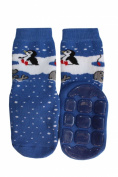 "Weri Spezials ABS Terry Socks, Blue, ""Penguin and Walrus""."