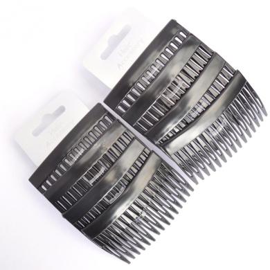 8 x Matt Black 7cm Hair Combs/ Side Combs/ Hair Grips