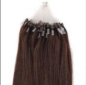 100S Loop Micro Ring Remy Human Hair Extension Dark Brown 46cm /50g