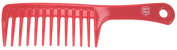 Pro Tip Hairdressing XL Wide Tooth Shampoo Rake Comb PTC07R 245mm - RED
