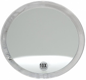 Fantasia Acrylic Mirror with Suction Cup and 10x Magnification 23 cm Pack of 1