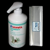 GEHWOL FUSSKRAFT MINT Cooling foot balm kit / Rapidly absorbed, mint fresh / Large Salon Size 0,5L 500ml / Largest on Amazon / Comes with preserving pack / Dermatologically tested / Made in Germany