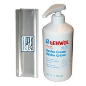 GEHWOL GERLACH Med Lipidro foot cream kit / Large Salon Size 0,5L 500ml / Largest on Amazon / Treats, reduces and helps against hard skin / Compensate a lack of lipids and moisture / Can be used by everyone, not just professionals / Comes with preservi ..