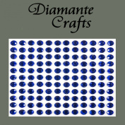132 x 5mm Dark Blue Diamante Self Adhesive Rhinestone Body Vajazzle Gems - created exclusively for Diamante Crafts