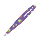 Tweezerman Mini Slant Tweezer Purple Rainbow Lollipop Swirl