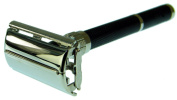 Parker 96 Daytona Safety Razor Black with Nickel Plate Finish