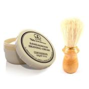 Taylor of Old Bond Street Sandalwood Shaving Cream Jar with FREE Pure Bristle Shaving Brush