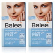 Balea Clear-up Strips for Nose, Chin & Forehead - Fast, Thorough - for Normal and Combination skin (2 packs, 6 Strips per pack) - Not Tested on Animals