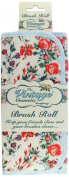 The Vintage Cosmetic Floral Brush Roll