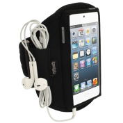 iGadgitz Water Resistant Neoprene Sports Gym Jogging Armband for Apple iPod Touch/iTouch 5th Generation 5G 32GB 64GB - Black