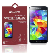 SAMAR® - Supreme Quality New Samsung Galaxy S5 Matte Anti Glare Screen Protectors (Released 2014) 15cm Pack - Includes Microfiber Cleaning Cloth