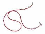ShoreThing UK Pretty Pink Spectacle/Glasses Chain Hearts & Freshwater Pearl : 70cm - 80cm. Pink/Cream/silver