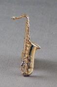 Metal Enamel Pin Badge Brooch Jazz Big Band Music Saxophone (Gold Plated) Saxaphone