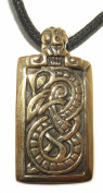 Viking Bronze Shield - Urnes Snakes / Nidhogg Dragon Viking Pendant / Necklace