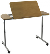 Adjustable Wheeled Tilting Over Bed or Chair Table