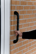 Gordon Ellis Prima Straight Outdoor Grab Bar 46cm Length Black
