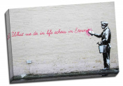 Large Banksy New York Better Out Than In What We Do In Life Echoes In Eternity Graffiti Canvas Art Print Framed Picture 50cm x 80cm A1