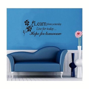 Learn From Yesterday, Wall Quote Saying Decals Sticker Home Decor Vinyl Removable
