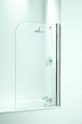 Coram Showers SFR80CUC 1400mm x 800mm Bath Screen with 5mm Thick Clear Glass - Chrome