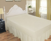 LUXURY PERCALE 200 THREAD COUNT EXTRA DEEP FITTED VALANCE SHEET