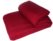 EliteHomeCollection Indian Classic Rib 250 x 250 cm Sofa Throw/ Bedspread includes Two Cushion Covers, Wine