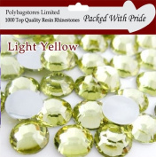 Pack of 1000 x Light Yellow 4mm Crystal Flat Back Rhinestone Diamante Gems *Factory Sealed & Labelled*