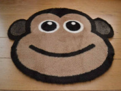 Cheeky Monkey Non Slip Machine Washable Sheepskin Style Kids Rug. Size 77cm x 77cm