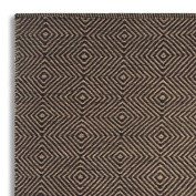 Homescapes Extra Small Jute Rug Black and Natural Diamond Geometric Design 60 x 110cm (2' x 3') Heavy Duty Suitable for Halls, Living Rooms or Conservatories