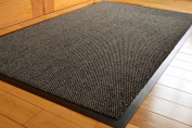 BIG EXTRA LARGE GREY AND BLACK BARRIER MAT RUBBER EDGED HEAVY DUTY NON SLIP KITCHEN ENTRANCE HALL RUNNER RUG MATS 120X180CM