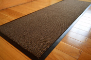 BROWN HEAVY DUTY NON SLIP RUBBER BARRIER RUG SMALL MEDIUM EXTRA LARGE DOORMAT LONG NARROW HALL RUNNER **6 SIZES**