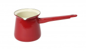 Dexam 400 ml Vintage Home Enamelware Turkish Coffee Pot, Claret Red