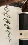 Hanging Wine Bottle Holder / Rack - Wall or Ceiling Mounted - Various pack sizes available