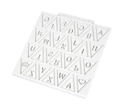 Design Mat bunting Alphabet - Silicone Mould for Cake Decorating ,Cupcakes, Sugarcraft and Candies