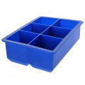 Foxnovo Novelty 6-Square Soft Silicone Ice Cube Tray Ice Maker Jelly Pudding Mould