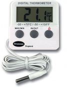 Digital fridge or freezer thermometer with alarm