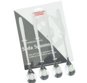 Stainless Steel Sundae Spoon Set of 4