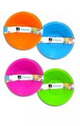 """Bello"" Pack of 4 Plastic Bowls for Desserts, Cereals, Ice Cream & Fruit Salad"