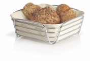 blomus Large Chrome Plated Metal Wire Cotton Delara Bread Basket, Sand