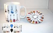 Classic Guitars - Ceramic Photo Mug and Coaster Set