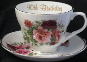 90th Birthday gift Cup and Saucer