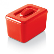 Zeal Melamine Insulated Butter Dish with Lid - Red