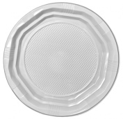 50 x Extra High Quality Strong White Plastic Disposable 18cm Plates
