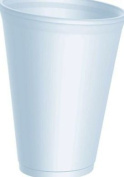 Thali Outlet - 100 x Dart 350ml Strong Foam Polystyrene Cups Disposable for Hot / Cold Drinks Tea Coffee - 12LX12