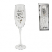 Juliana Happy 50th Birthday Champagne Glass Flute in Gift Box G31850