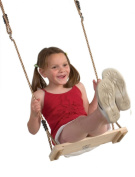 Garden Games Pine Wooden Swing Seat with Nylon Ropes