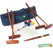 Big Game Hunter's Four Player Complete Croquet Set in a Canvas Storage Bag