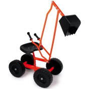 Large Metal Sand Digger with Wheels Excavator Sandpit Outdoor Toy