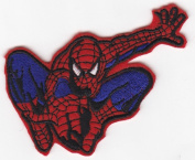 Spiderman Swinging Iron on Sew on Embroidered Patch Badge Applique Motif